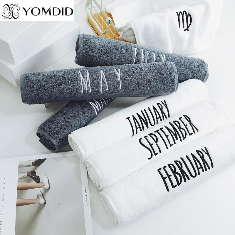 00 cotton embroidery 12 month towel high quality white face towel sport bath hand towel bathroom