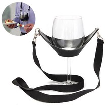 Glass Holder Wine Portable Neck Strap Glasses Supports Hands Free Party ... - $6.99