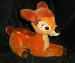 """12"""" Tienda Disney Auténtica Core Bambi Tumbado Marrón Ciervo Peluche Plu... - $18.50"""
