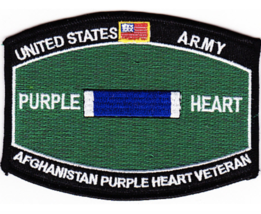 "4.5"" Army Mos Afghanistan Veteran Purple Heart Embroidered Patch - $17.09"