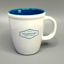 2010 Light Blue & White Starbucks Ceramic 14 ounce Coffee/Tea mug - $19.79