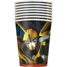 Transformers Prime Paper Cups 9 oz Birthday Party Supplies 8 Per Package Unique - $3.91