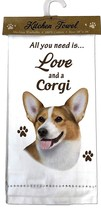 CORGI DOG COTTON KITCHEN DISH TOWEL - $9.99