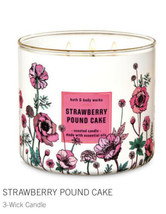 Bath & Body Works Strawberry Pound Cake 3 Wick Candle - 14.5 Oz - $31.68