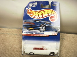 L37 Mattel Hot Wheels 24366 1964 Lincoln Continental 2000 First Eds New On Card - $5.24