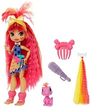Mattel Cave Club Emberly Doll 8 – 10-inch, Pink Hair Poseable Prehistori... - $29.69