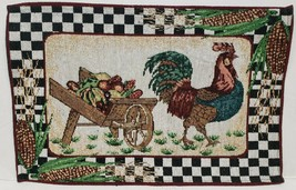 "Set of 2 Tapestry Placemats,13""x19"", ROOSTER & FRUITS CARRIAGE - $12.86"
