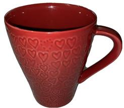 Red Valentine Starbucks Cups Embossed Hearts 2009 Design House Stockholm - $9.90