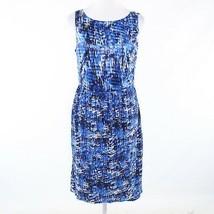 Dark blue textured ANN TAYLOR sleeveless shift dress 12 - $39.99