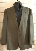 Todays Man Lanficio di Pray Mens 2 Button Sport Coat 46R Brown Tweed Her... - $48.00