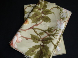 2 King Pillowcases mw New Ralph Lauren YORKSHIRE ROSE GREEN PINK ROSES f... - $79.99
