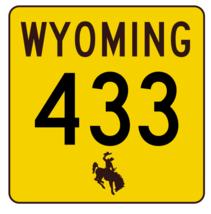 Wyoming Highway 433 Sticker R3542 Highway Sign - $1.45+