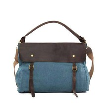 On Sale, Fashion Canvas With Leather Shopping Bag, Messenger Bag, Leather Briefc image 1
