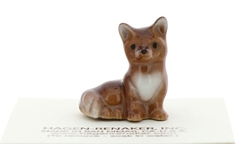 Hagen-Renaker Miniature Ceramic Figurine Fox Papa and Baby 2 Piece Set image 3