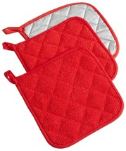 NEW! Heat Resistant Terry Cloth Potholder Kitchen Cooking Oven Hot Pad 3... - $9.96