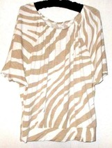 Ann Talor Loft WHITE/BEIGE Drape Top Size S - $8.00