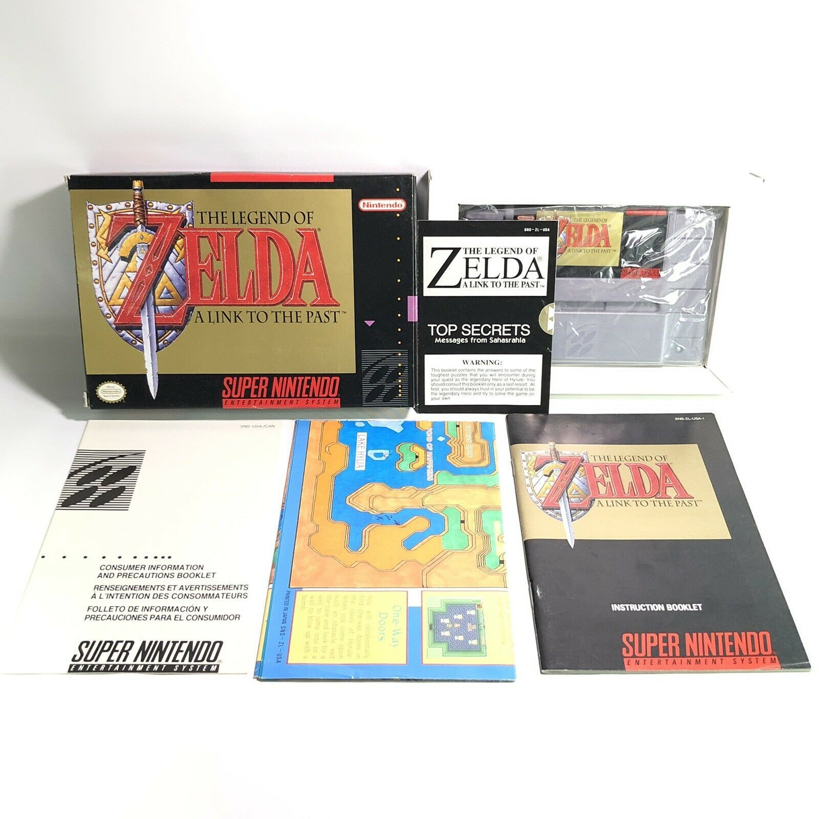 SNES The Legend of Zelda: A Link to the Past Complete CIB Excellent 1st Pribting - $346.49