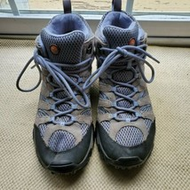 Merrell Womens Moab Mid J88792 Gray Waterproof Hiking Shoes Boots Size 10 - $64.30