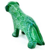 Vaneal Group Hand Carved Kisii Soapstone Green Standing Puppy Dog Figurine Kenya image 3