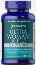 #1 BEST ULTRA WOMAN 50 PLUS RIBOFLAVIN NIACIN FOLIC ACID SUPPLEMENT 180 CAPLETS image 2