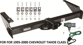 Trailer Hitch W Wiring Kit For 1995-2000 Chevrolet Tahoe Class 3 Brand New Reese - $189.88