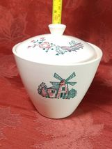 VINTAGE WINDMILL COVERED SUGAR BOWL MADE IN USA image 7