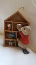Beaver Bookcase Hallmark Keepsake Ornament Collector's Club 1995 Vintage Used - $14.03