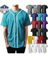 Mens Baseball Jersey Raglan Plain T Shirt Team Uniform Solid Hipster But... - $23.74+