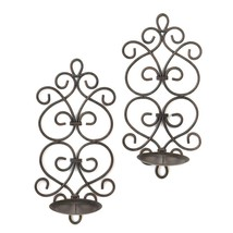 Candle Sconces, Decorative Metallic Wall Sconce Iron Bedroom Scrollwork ... - $38.50