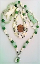 Pearl Jade Aventurine Gemstone Necklace - $27.24