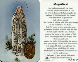 Magnificat My Soul Doth Magnify the Lord - Item EB144 - Wallet Prayer Card - $2.79
