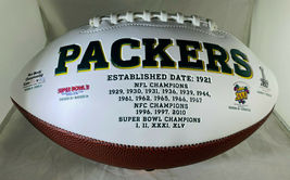 AARON RODGERS / AUTOGRAPHED INSCRIBED GREEN BAY PACKERS WHITE FOOTBALL / STEINER image 2