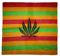 "Wholesale Lot of 6 Striped Weed Leaf 100% Cotton 22""x22"" Bandana - $14.88"