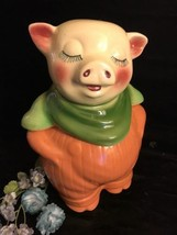Vntage Shawnee Butescotch Smiling Pig Cookie Jar/Bank - $256.41