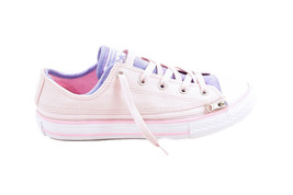 Converse Junior CTAS Zip Star OX 660708 Shoes Beige Pink Size UK 3 - $49.48