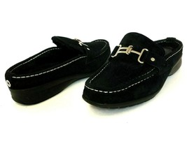 Cole Haan Womens 8 Black Shoes Mules Loafer Mardi Waterproof Suede Shear... - $35.53