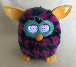 Furby Boom Interactive Pet Hounds Tooth Pink Blue And Yellow 2012 Hasbro - $19.80