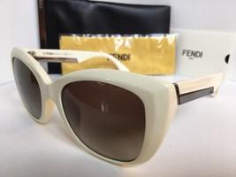 New FENDI FF 0019/S BMNHA 54mm White Cats Eye Women's Sunglasses - $259.99