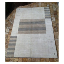 Contemporary Indian hand made Cream Wool Area Rug  10' x 14' - $1,835.91