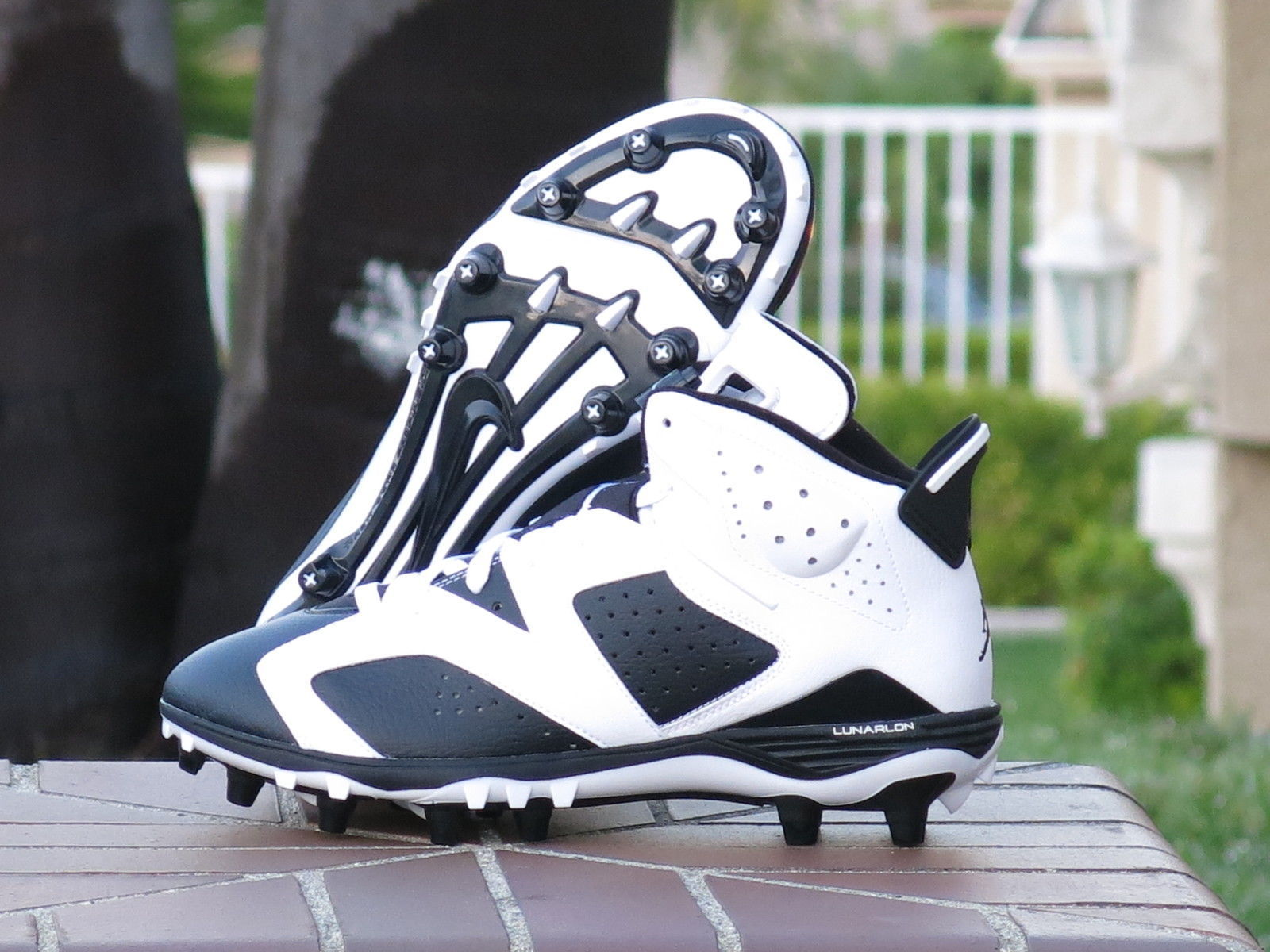 7cbfc1734a8f ... NIKE AIR JORDAN 6 TD RETRO FOOTBALL CLEATS OREO BLACK WHITE NEW  (645419-110