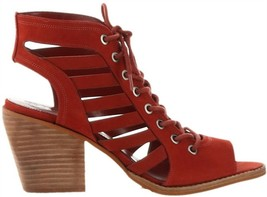 Vince Camuto Nubuck Lace-Up Heeled Sandals-Chesten Spice 8M NEW A347375 - $103.93