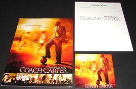 2004 COACH CARTER Movie PRESS KIT Folder CD Production Notes Samuel L. J... - $14.50