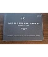1970 Mercedes 280SL 250SL Owners parts catalog W113 Manual 1971 1969 196... - $148.49