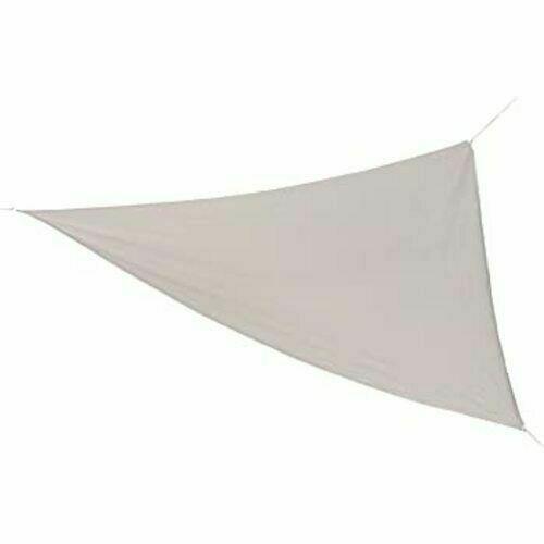 Coolaroo Ready-To-Hang Shade Triangle Sail 13 ft x 13 ft x 13 ft - Pebble NIP