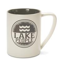 Pavilion Gift Company 67002 Lake People Ceramic Mug, 18 oz, Multicolored - $15.09