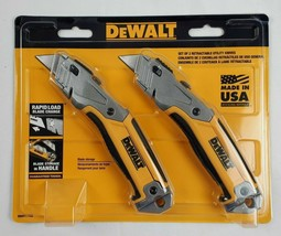 DeWalt Retractable Utility Knife Blade Storage 2 Pack Made in USA NEW - $29.84