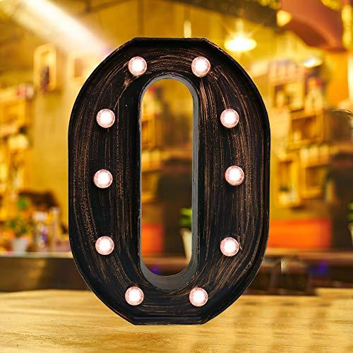 Industrial Style Light Up Letters: Golden Led Marquee Letter O