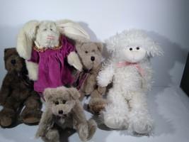 5 Boyd's Bears THE BOYDS COLLECTION 1985 / 1990's LAMB BUNNY BEAR PLUSH  - $42.08