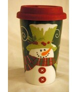 Fitz & Floyd Holly Hat Travel Mug - $9.44