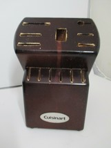 Cuisinart 13 Slot Wood Knife Cutlery Block Storage Holder Burgundy - No ... - $19.99